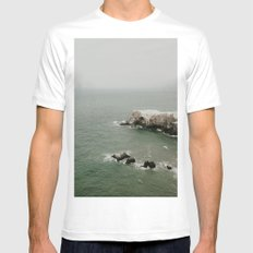 bird island White Mens Fitted Tee LARGE