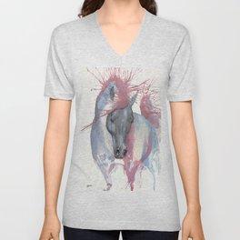 horse portrait Unisex V-Neck