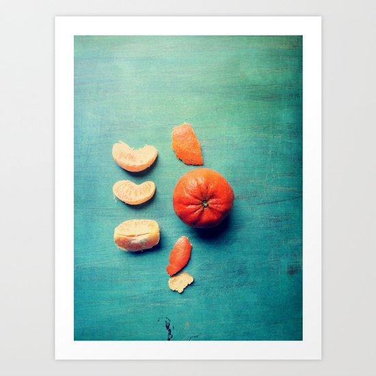 Orange Wedge Art Print