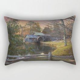 Winter Morning At Mabry Mill Rectangular Pillow