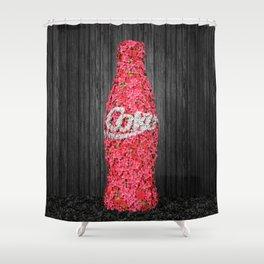 Flower Coke Shower Curtain