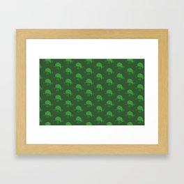 Simple green beetle pattern Framed Art Print