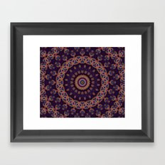 Peacock Jewel Framed Art Print