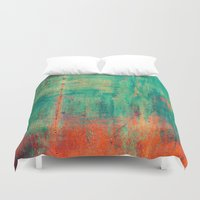 xbox Duvet Covers featuring Vintage Metal by Patterns and Textures