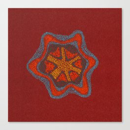 Growing - Clematis - embroidery based on plant cell under the microscope Canvas Print