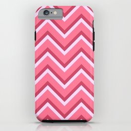 Pink Zig Zag Pattern iPhone Case