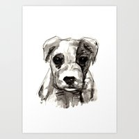 puppy Art Prints featuring Puppy  by Cedric S Touati