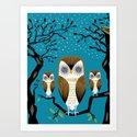 Three Lazy Owls by oliverlake