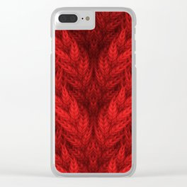 Cable Knit Clear iPhone Case