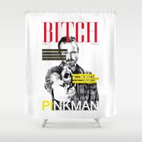 bitch Shower Curtains featuring Bitch by Leigh Harris
