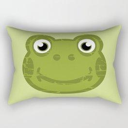 Cute Frog Face Rectangular Pillow