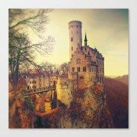 lichtenstein Canvas Prints featuring Lichtenstein castle by Renata Arpasova