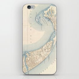 Vintage Map of Lower Cape Cod iPhone Skin