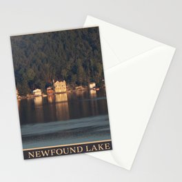 Houses on the Newfound Lake Stationery Cards