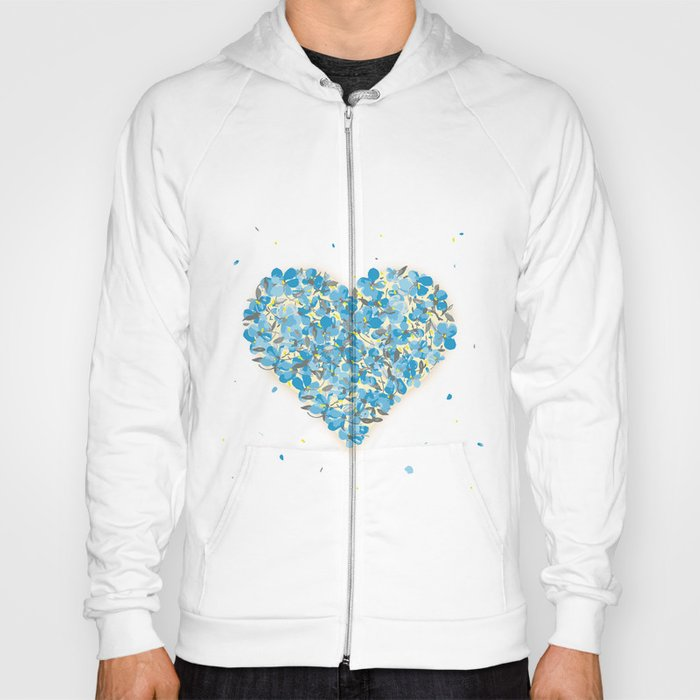 forget-me-nots heart Hoody