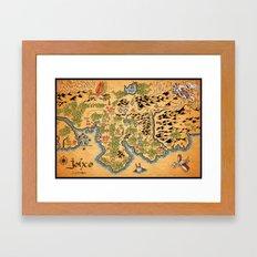 Johto Map Framed Art Print