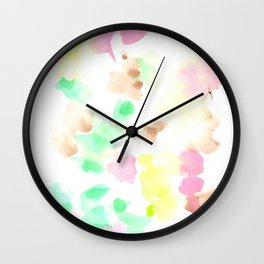 170322 Soft Pastel Watercolour 9  |Modern Watercolor Art | Abstract Watercolors Wall Clock