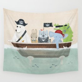 the pirate tub Wall Tapestry