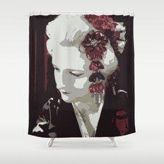 the fair-haired geisha Shower Curtain