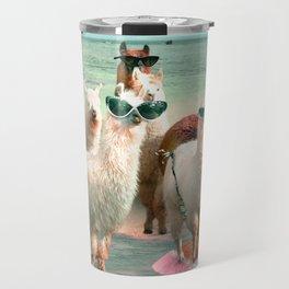 Funny Llama Beach Travel Mug