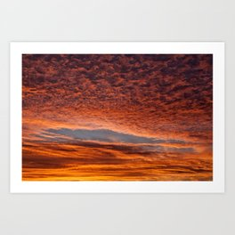Red sunset in Senigallia Art Print