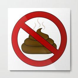 no dog poop sign illustration Metal Print