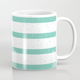 Summery sailor stripes light blue and white pattern with splatter Coffee Mug