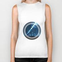 moonrise Biker Tanks featuring moonrise  by yahtz designs