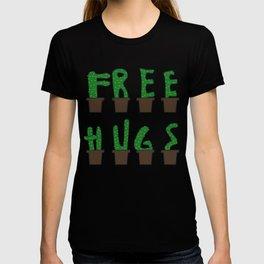 Kaktus free hugs hug me plant stin prickly saying funny gift idea T-shirt
