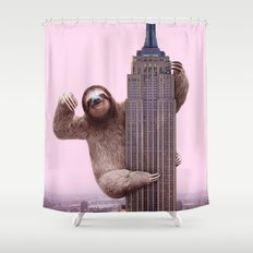 KING SLOTH Shower Curtain