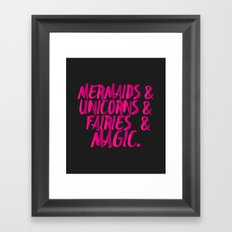 The Magical Creatures Framed Art Print