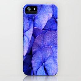Hydrangea Dark flower pattern iPhone Case