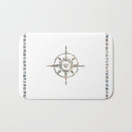 Compass Bath Mat