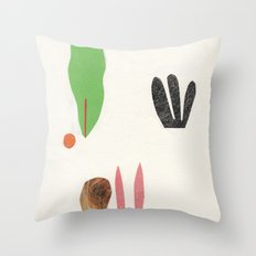 bottom of the jungle Throw Pillow