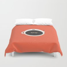 The Spaceman on Mars Duvet Cover