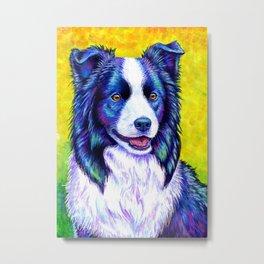 Colorful Border Collie Dog Metal Print
