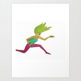 Leap (Illustration) Art Print