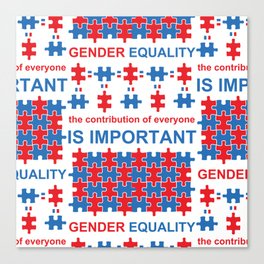 Gender Equality_02 by Victoria Deregus Canvas Print
