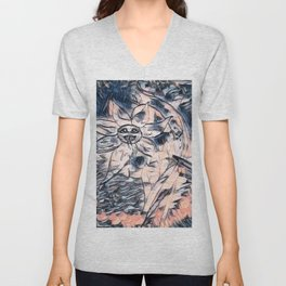 Flower Venom Black and White Unisex V-Neck