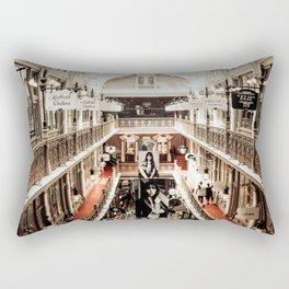 Industrial Urban Architectural Design Vintage Mall Art Photo Rectangular Pillow