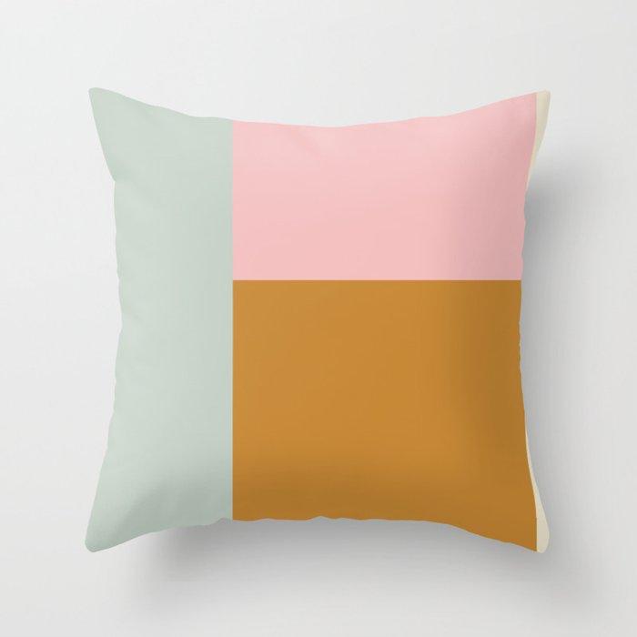 Geometric Color Block #4 Throw Pillow