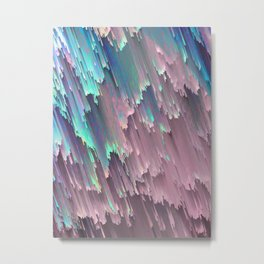 Iridescent Shadows Glitches Metal Print