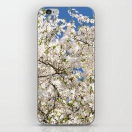 white flowers of Cerasus iPhone Skin