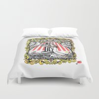 popeye Duvet Covers featuring Rock Of Oyl by Christopher Chouinard