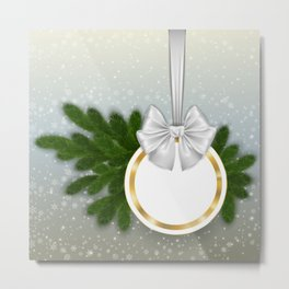 Christmas tag Metal Print