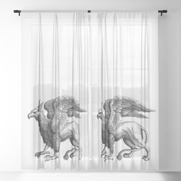 Peter the Griffin Sheer Curtain