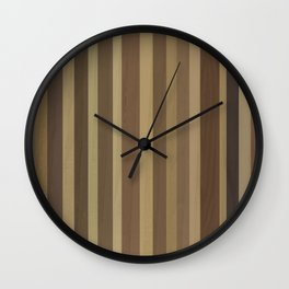 Wooden Planks Wall Clock
