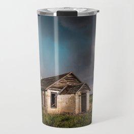 Pioneer - Abandoned Settlement Under Storm On Colorado Plains Travel Mug