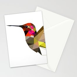 Pink hummingbird portrait Stationery Cards