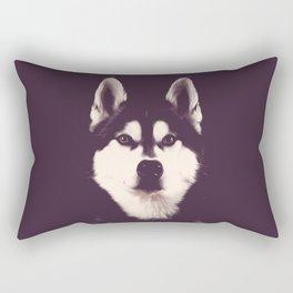 Vintage Oil Painting Husky Dog Special Design for Dog Lovers Rectangular Pillow